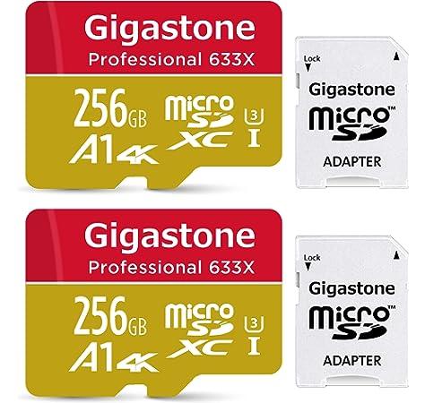 Gigastone Ultra Tarjeta de Memoria Micro SDXC de 256GB,Grabación de 4K vídeo,Alta Velocidad de 4K UHD (UHS-I A1, U3, Clase 10, 2 Paquetes, Adaptador Gratuito), Adecuado para Cámara Digital etc.: Amazon.es: Electrónica