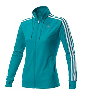adidas Climacool Training Women's Tracksuit Jacket 3 Stripes Core ...