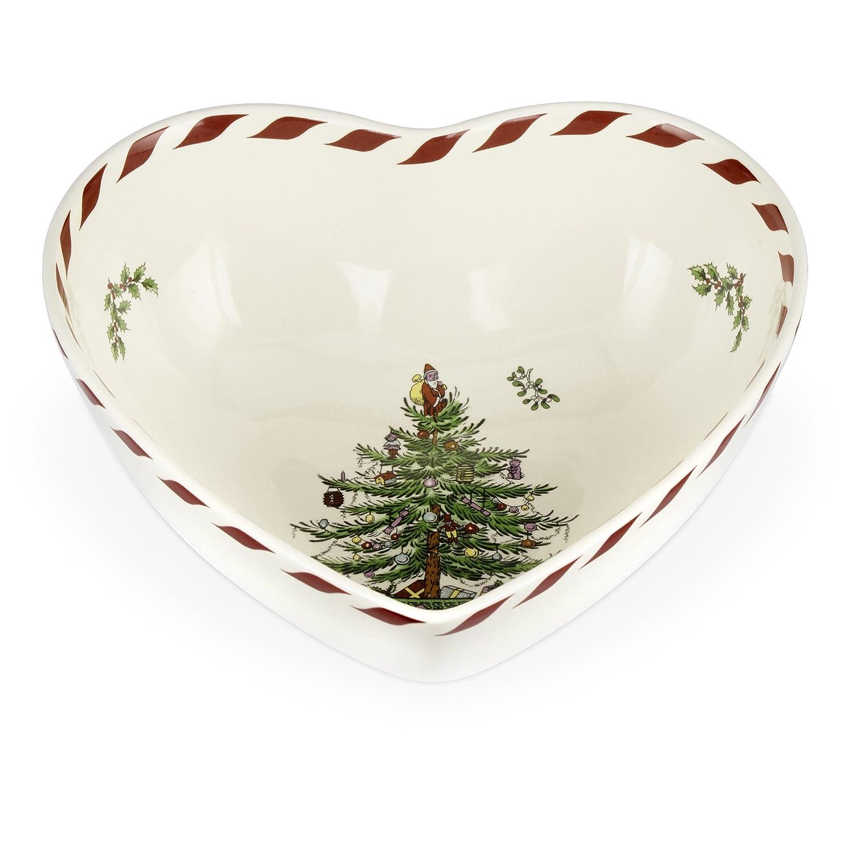 Spode Christmas Tree Peppermint Heart Bowl, 8-Inch Portmeirion USA 1536869