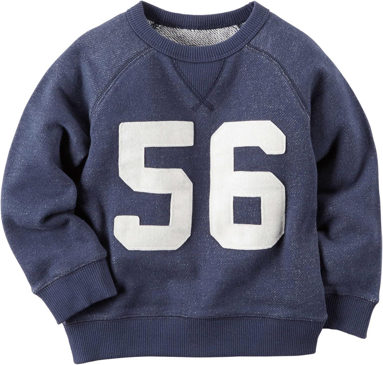 Carters Boys Varsity L//S Pullover Navy Blue 3m