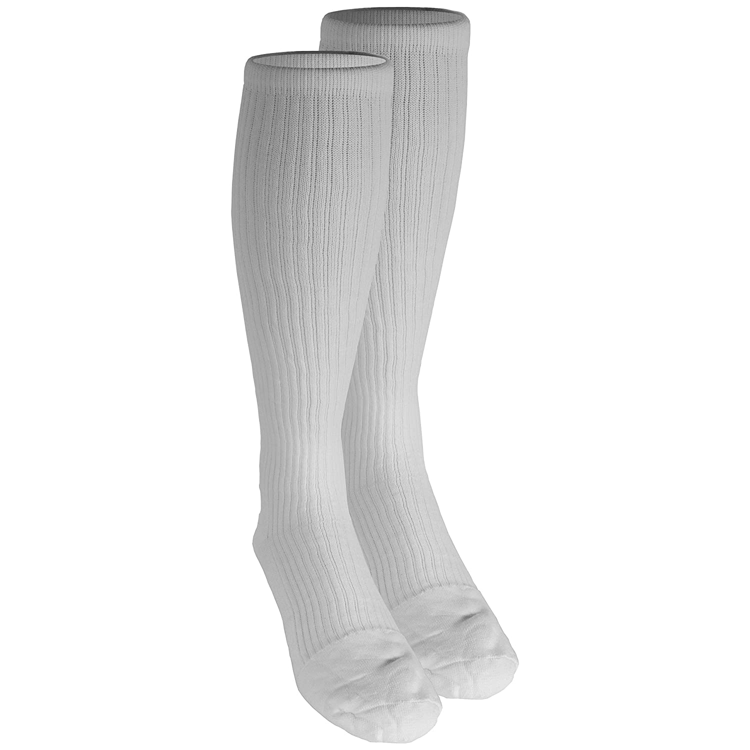 Amazon.com: Truform Mens 15-20 mmHg Knee High Cushioned Athletic Support Compression Socks, White, Medium: Health & Personal Care