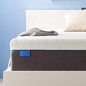 King Size Mattress, JINGWEI 11 Inches Cooling-Gel Memory Foam Mattress Bed in a Box, Certified Foam, Pressure Relief Supportive, Medium Firm, 76 X 80 X 11 inches
