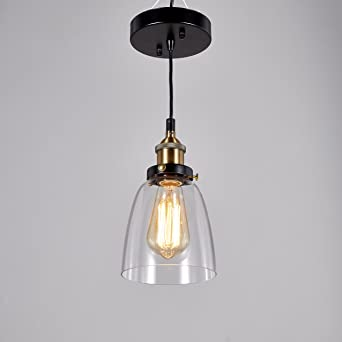 cottage style lighting fixtures. Central Park Industrial Vintage Glass Pendant Lamp, Edison Lighting, Cottage Style Light Fixture, Lighting Fixtures U