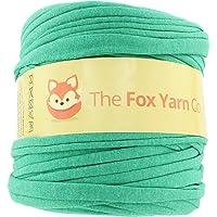 T-Shirt Yarn Cotton Fettuccini Zpagetti - Sewing Knitting Crochet T Shirt Yarn - 100 Meter - (Green)