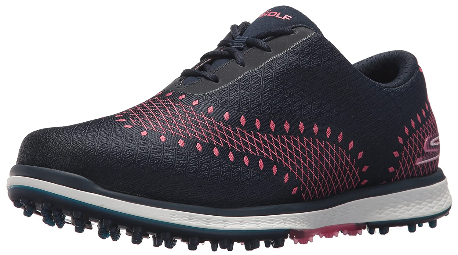 Skechers Women's Go Golf Elite Ace Jacquard Golf Shoe B06XWGFC9T 6 B(M) US|Navy/Pink
