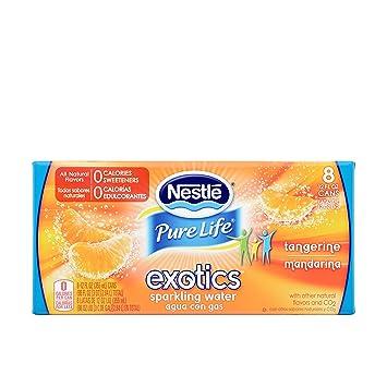 amazon com nestle pure life exotics sparkling water tangerine 12 rh amazon com