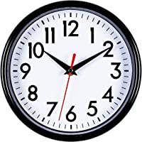 """Bernhard Products - Pink Wall Clock 8"""" Silent Non-Ticking Quality Quartz Battery Operated Clock for Girls/Kitchen/Classroom/Nursery Room Easy to Read"""