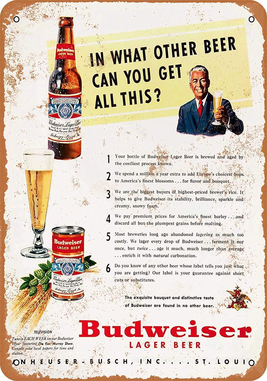 LORENZO Lager Beer Vintage Metal Cartel de Chapa Pared ...