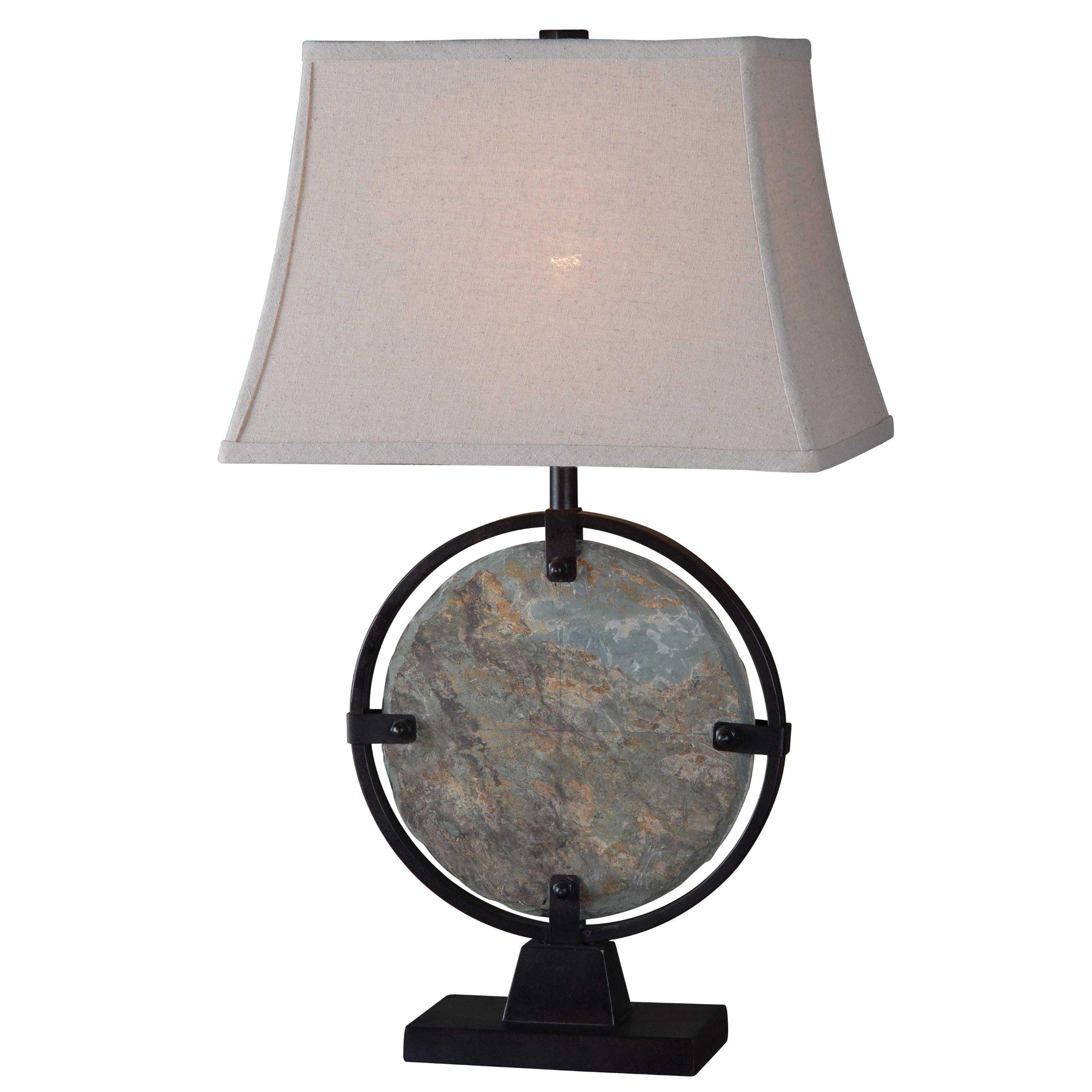 Kenroy Home 32226SL Suspension Table Lamp, Natural Slate by Kenroy Home (Image #1)