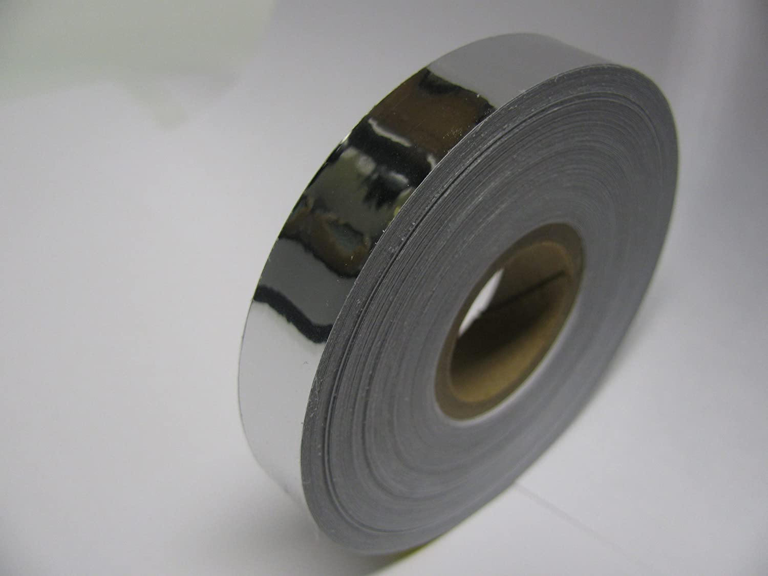 Metallic Look Silver Chrome Vinyl Tape 1 inch x 50 feet Free Shipping to World