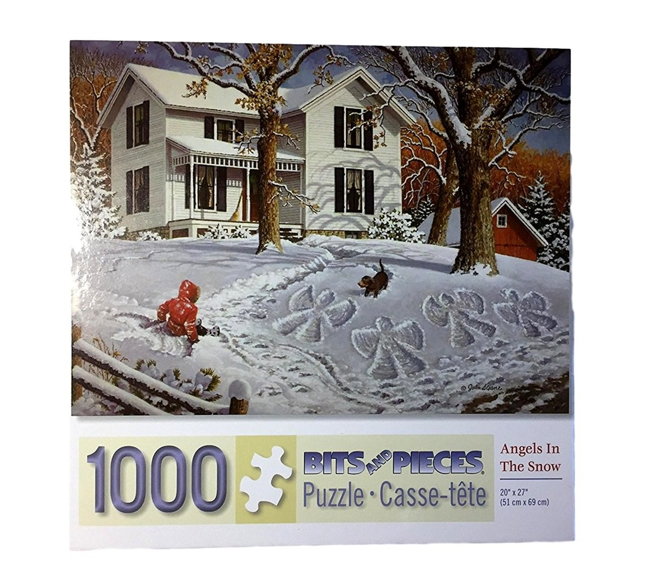 Studio 1000 Piece Puzzle: Angels in the Snow by John Sloane