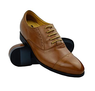 15f29458714261 Zerimar Chaussures Rehaussantes Homme | Chaussures Grandissantes + 7 cm | Chaussures  Homme Ville Cuir | Chaussures Cuir Homme | Chaussures Cuir Veritable: ...