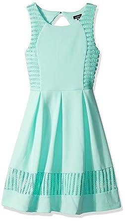 e123dc6d4d98 Amazon.com: ZUNIE Girls' Big Textured Knit Pleated Skater Dress ...