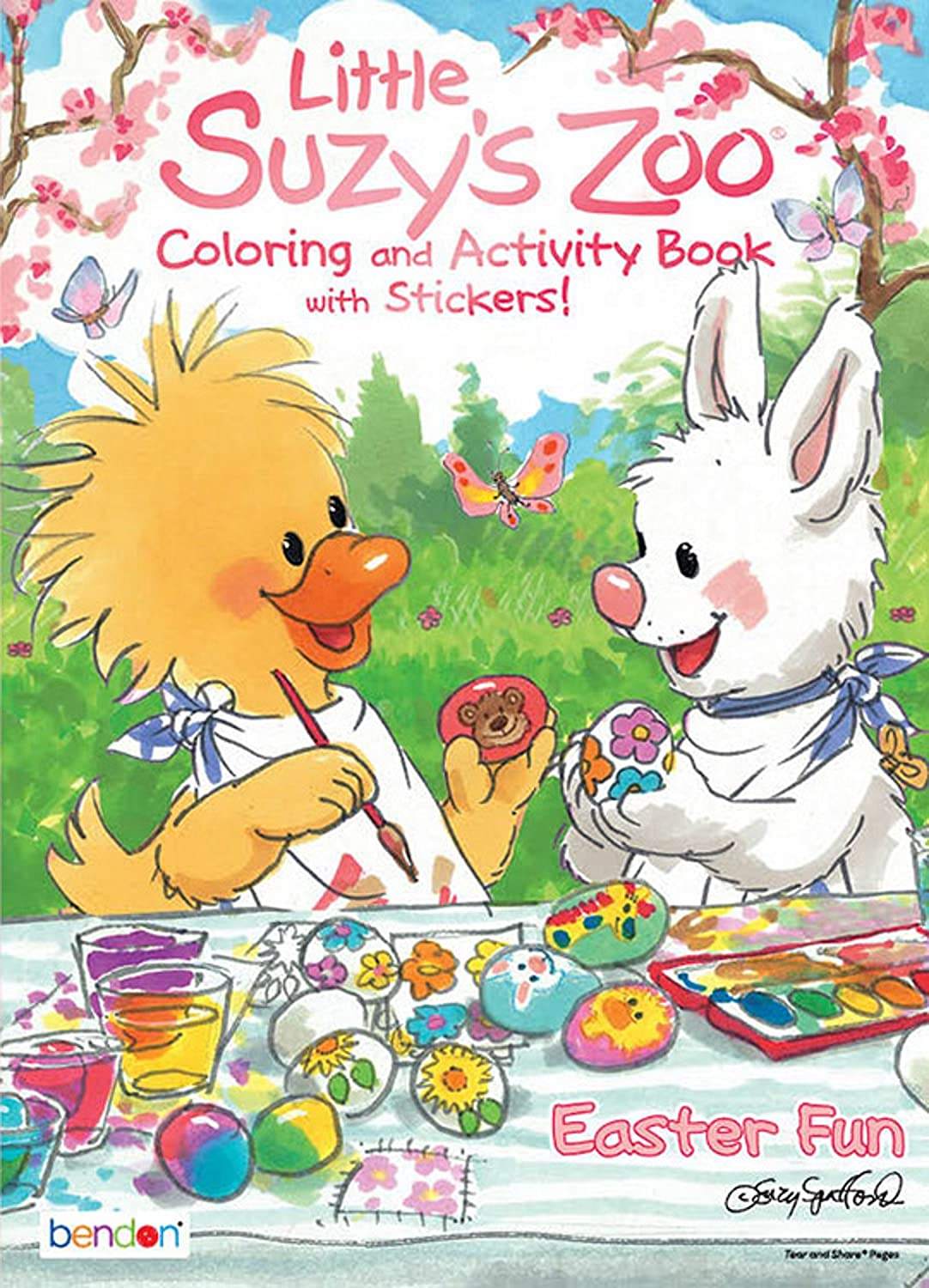 Little Suzys Zoo Easter Coloring and Activity Book with Stickers Pack of 6
