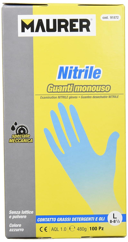 Maurer 15030635 - Guanto monouso in nitrile formato della scatola 8 l 100 A forged tool s.a.