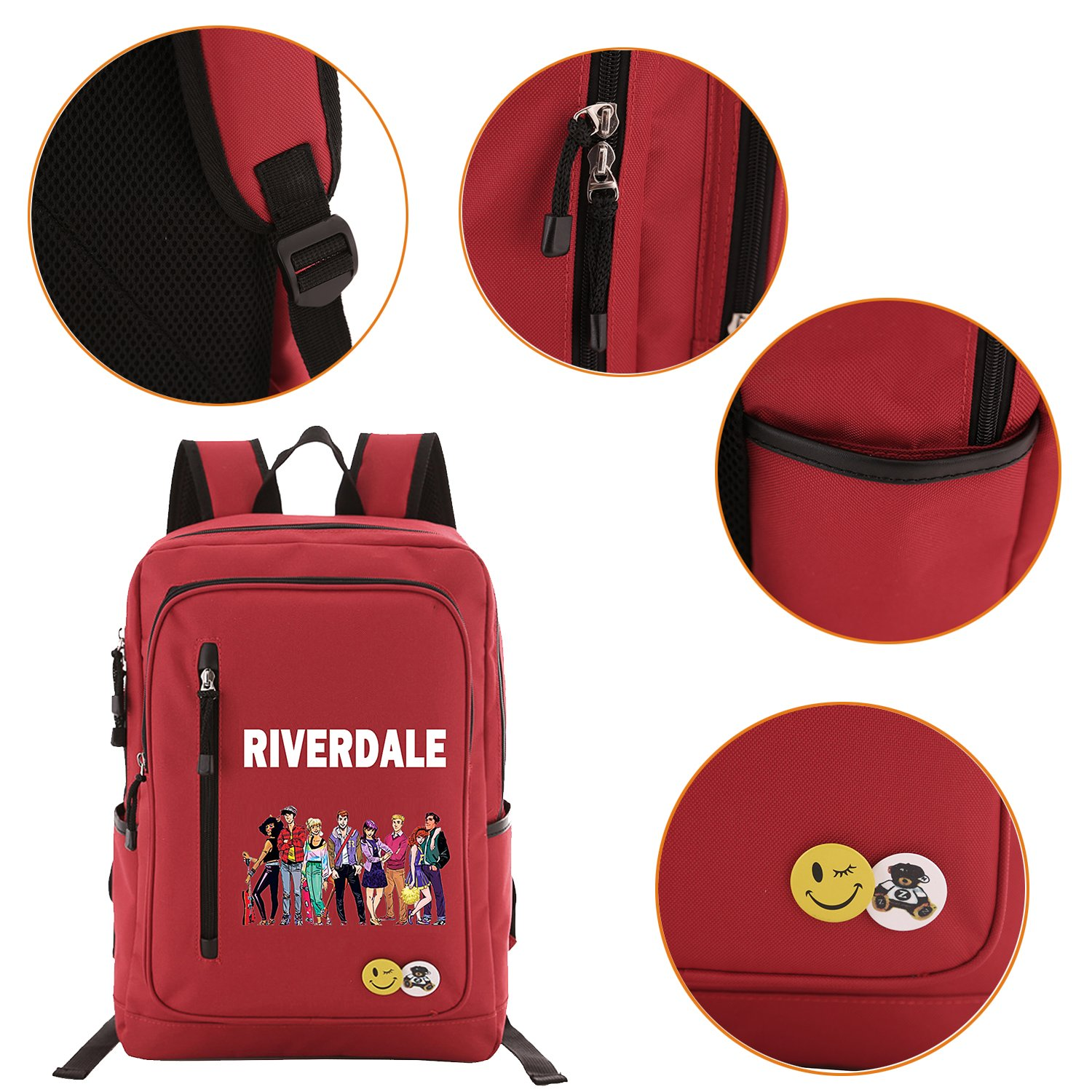 Amazon.com: Riverdale Backpack School Bags for Boys Girls, Lightweight Book Bag Multi-Functional Water-Resistant Casual Trekking Rucksack, Sports Daypack ...