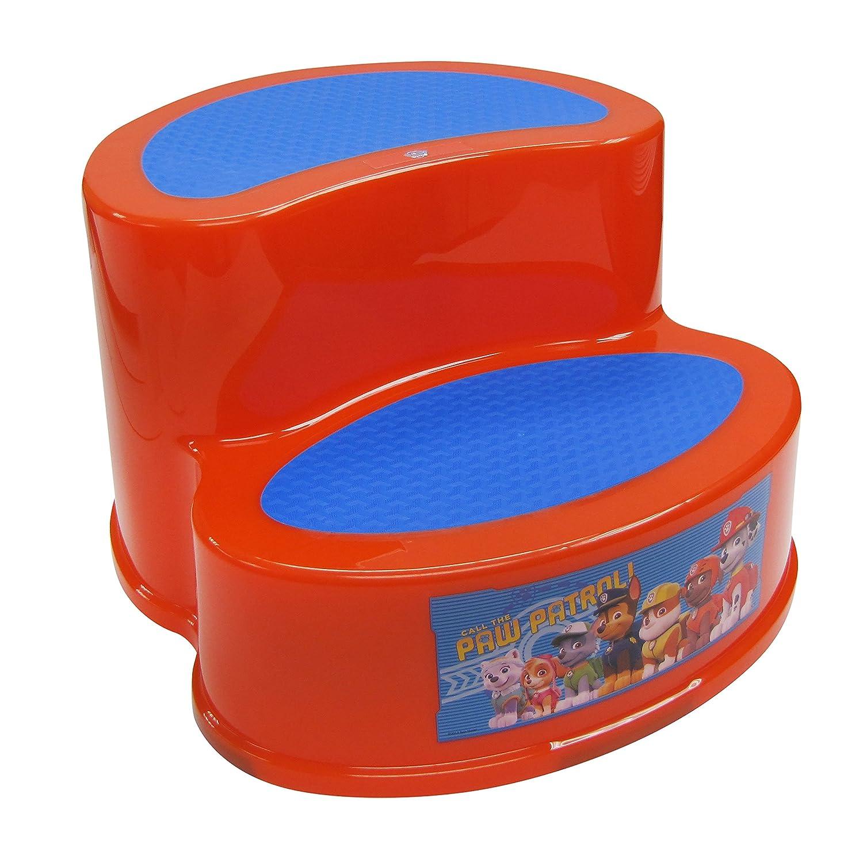 Nickelodeon Paw Patrol 2-Tier Step Stool, Red/Blue Ginsey 58524