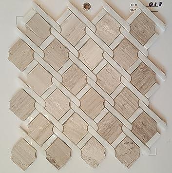 Mosaik Fliesen 30 X 30 Cm Marmorfliese Weiß Grau Beige Viktorianische  Seidenküche Badezimmer Wand 8mm 021