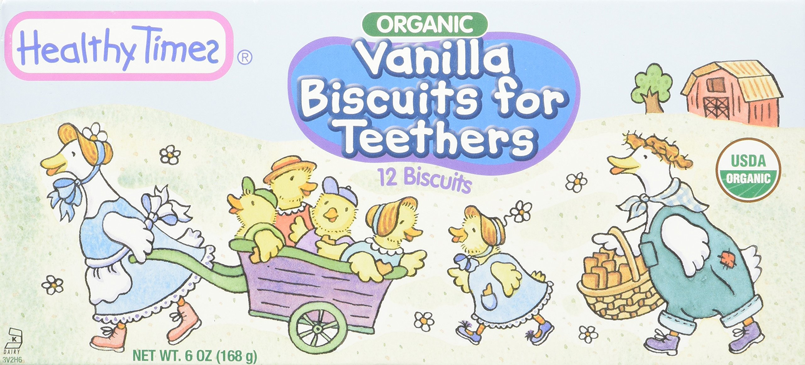 Healthy Times Organic Vanilla Biscuits for Teethers, 6 Ounce by Healthy Times