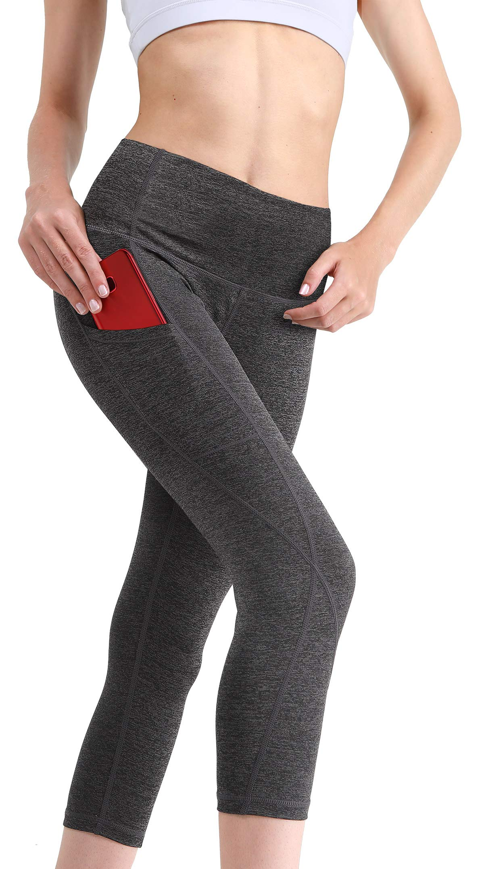 454a175189413 MYoga Women's High Waist Yoga Pants Workout Running Capri Leggings ...