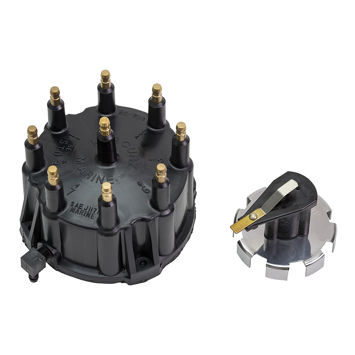 Quicksilver 805759Q3 Distributor Cap Kit - Marinized V-8 Engines by General Motors with Thunderbolt IV and V HEI Ignition Systems Mercury Marine