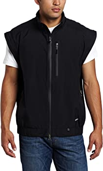 Zero Restriction Mens Featherweight Traveler Jacket Removable Sleeve Rain Jacket