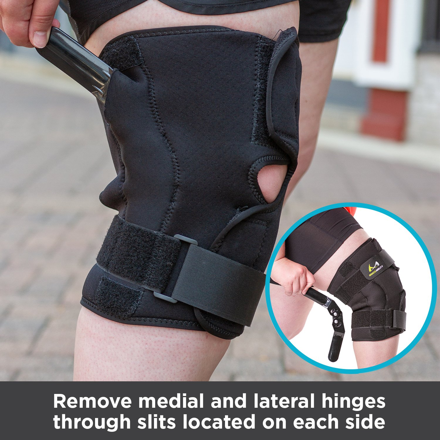 2fe6b36066 BraceAbility Plus Size Knee Brace | Bariatric Hinged Knee Wrap for Big & Wide  Thighs to Support Meniscus Tears, Arthritis Joint Pain, Ligament Injuries  ...