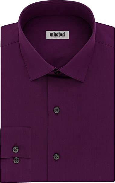 Kenneth Cole Mens Slim Fit Button Up Dress Shirt