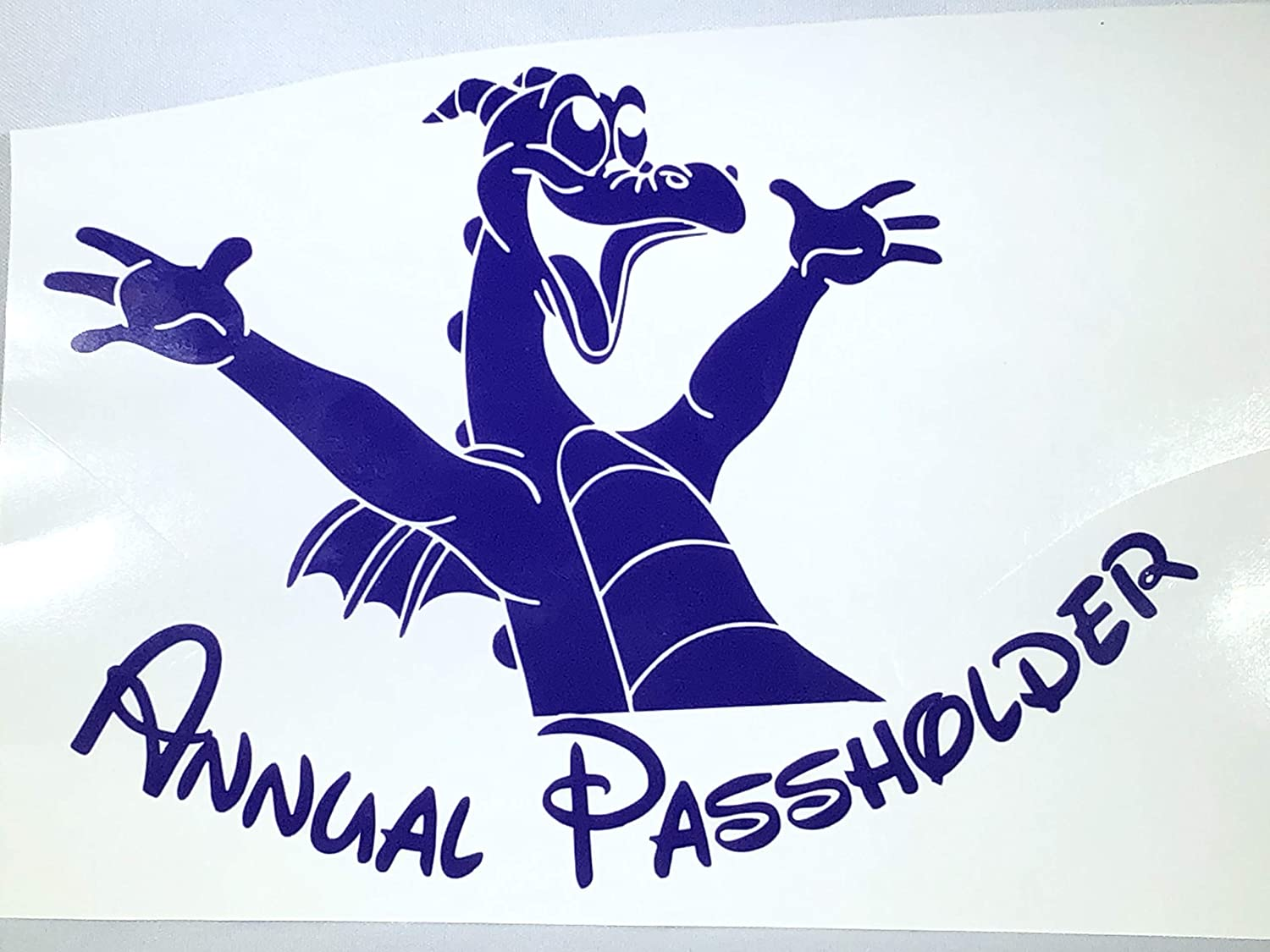 Disneyland Passholder Decal Disney Figment Annual Passholder Car Decal Walt Disney World Multiple Colors Available Annual Pass WDW Passholder Decal
