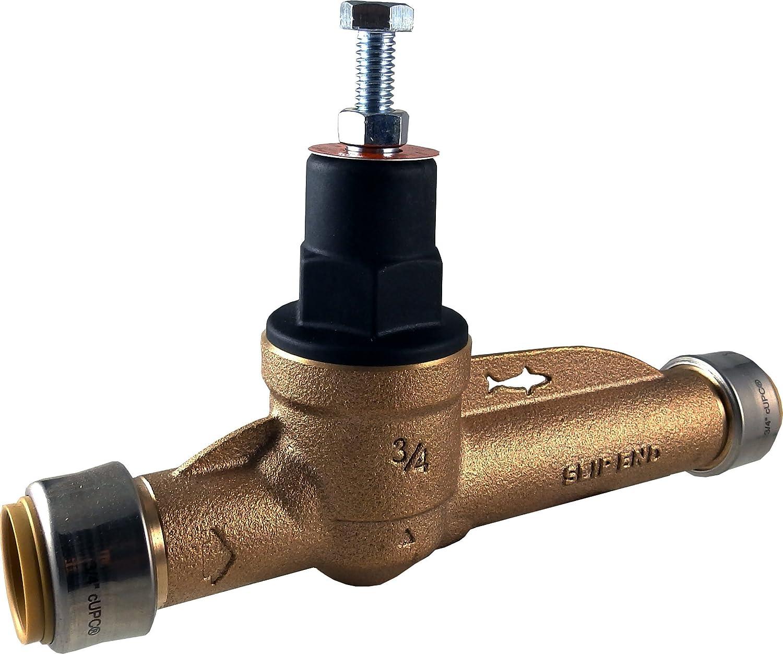 Cash Acme 24384-0045 Slip Direct Sharkbite Pressure Regulating Valve with Polymer Cap 3//4-Inch