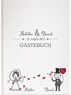 Personalisiertes Gästebuch Für Ihre Hochzeit Hochzeitsbuch Individuell Mit  Eigenen Namen Fotoalbum Mr Mrs Wedding (Motiv