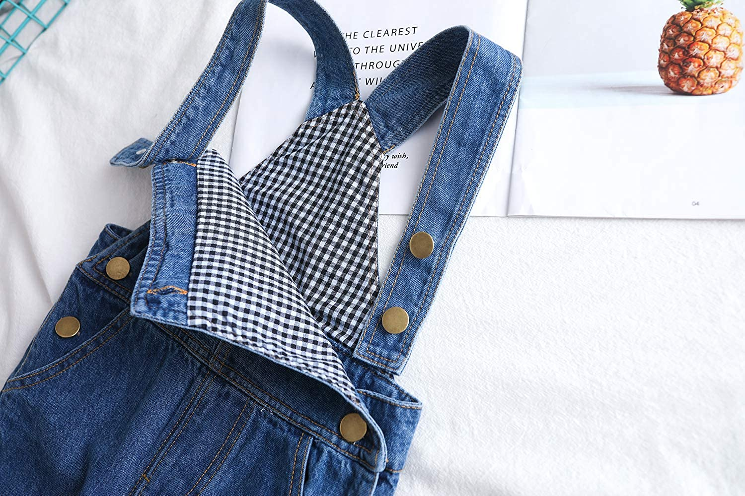 Kidscool Baby /& Toddler Adjustable Ripped Fashion Jeans Overalls