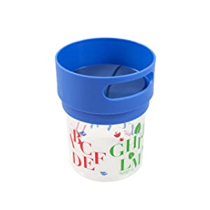 Munchie Mug No-Spill Snack Cup Small Blue, Made in The USA