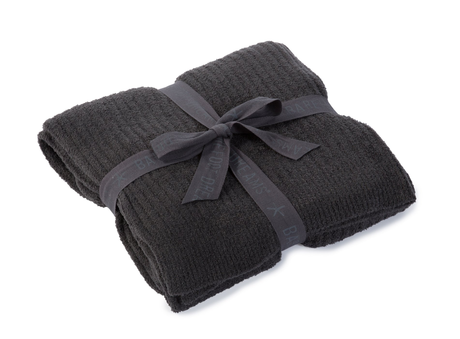 Barefoot Dreams CozyChic Lite Ribbed Throw Blanket - Carbon 54'' x 72'' by Barefoot Dreams