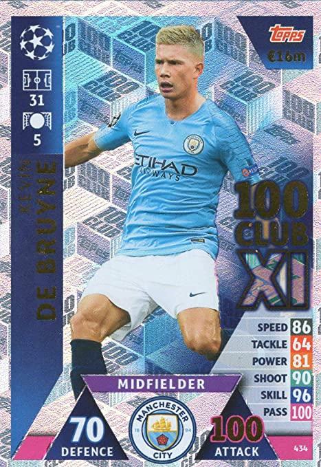 989a19814 Image Unavailable. Image not available for. Color: Match ATTAX Champions  League 18/19 Kevin DE BRUYNE ...