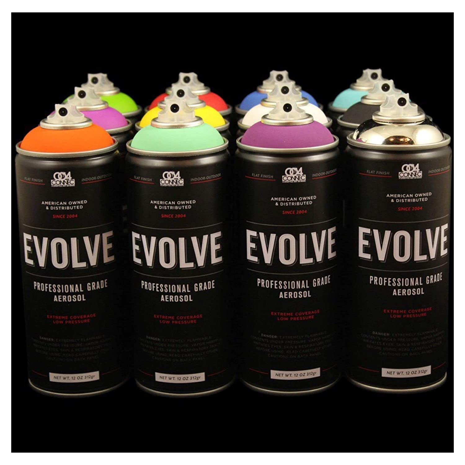 Amazon.com: Evolve 12 pack, MTN, Montana, Belton & Molotow & Ironlak Spray  Paint