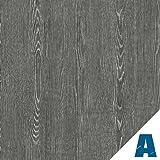 Artesive Rouvre Gris Sombre largeur 60 cm x 5mt. - Film Adhésif autocollant en Vinyle Effet Bois pour la maison, la décoration, meubles, porte et toutes les surfaces lisses.