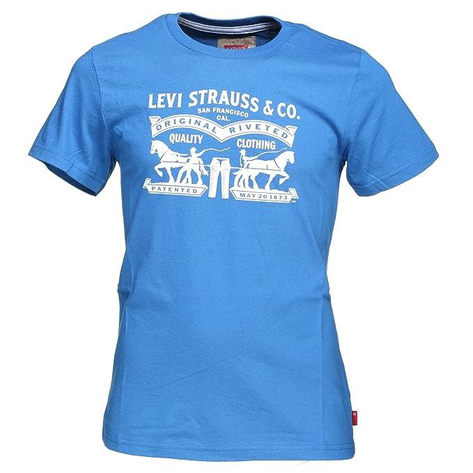 95bcc2f42 Camiseta Levis Horses Azul  Amazon.es  Ropa y accesorios