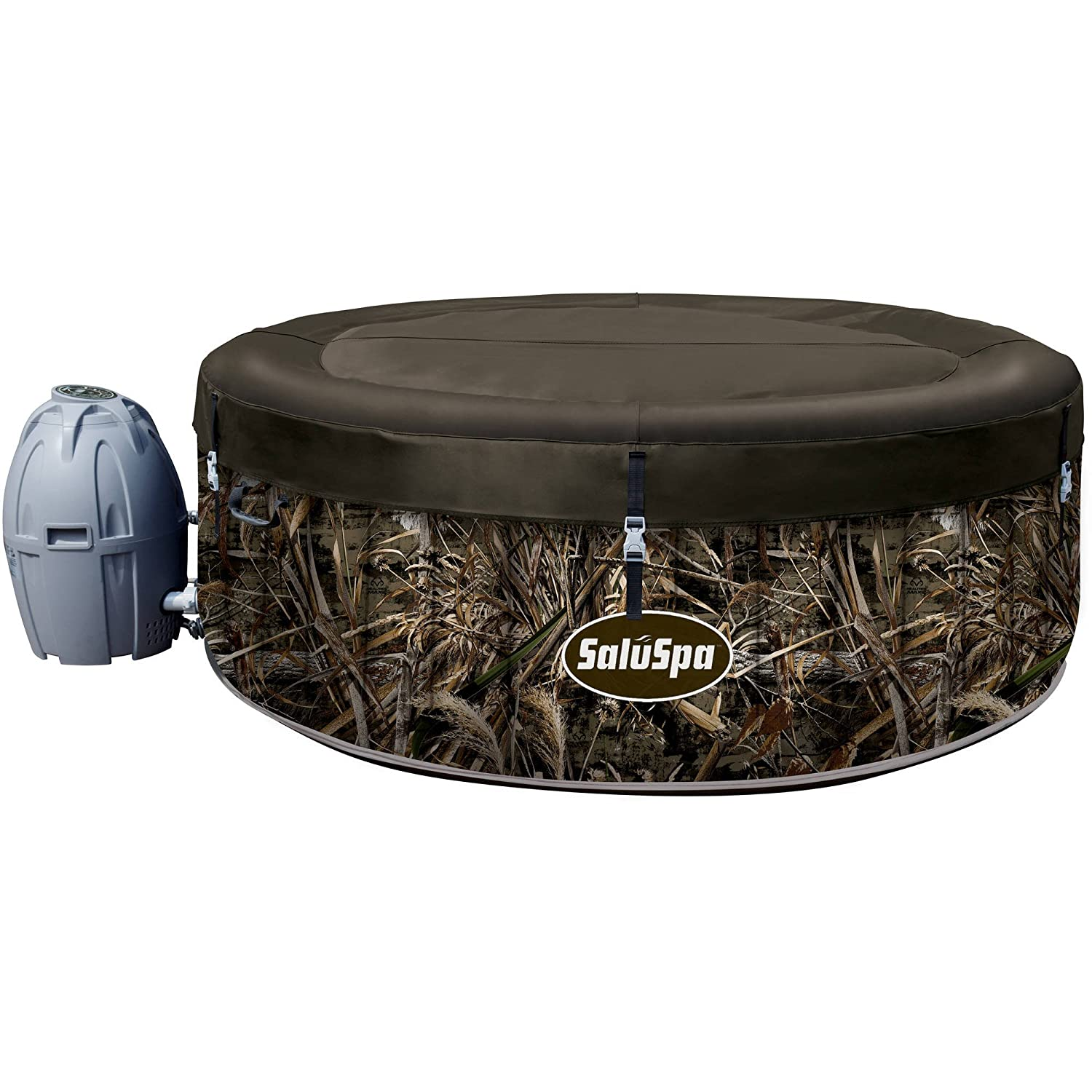 SaluSpa Realtree MAX-5 AirJet 4 Person Portable Inflatable Hot Tub