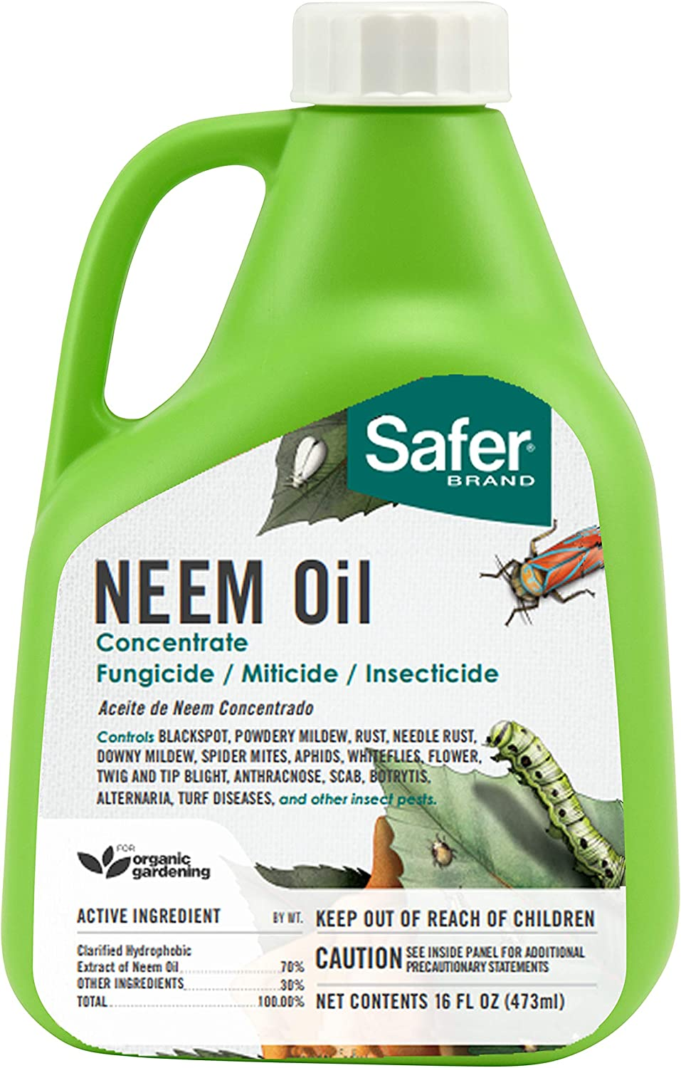 Safer 5182-6 Brand Neem Oil Concentrate,Green