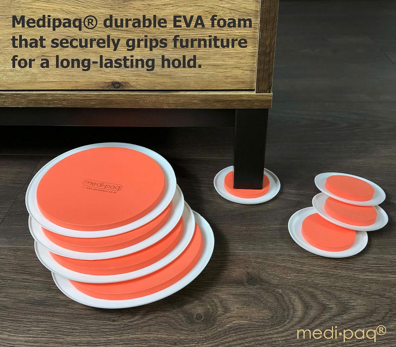 Medipaq - Discos para desplazar muebles pesados, color naranja Estupendo juego de 8 alfombrillas.: Amazon.es: Bricolaje y herramientas