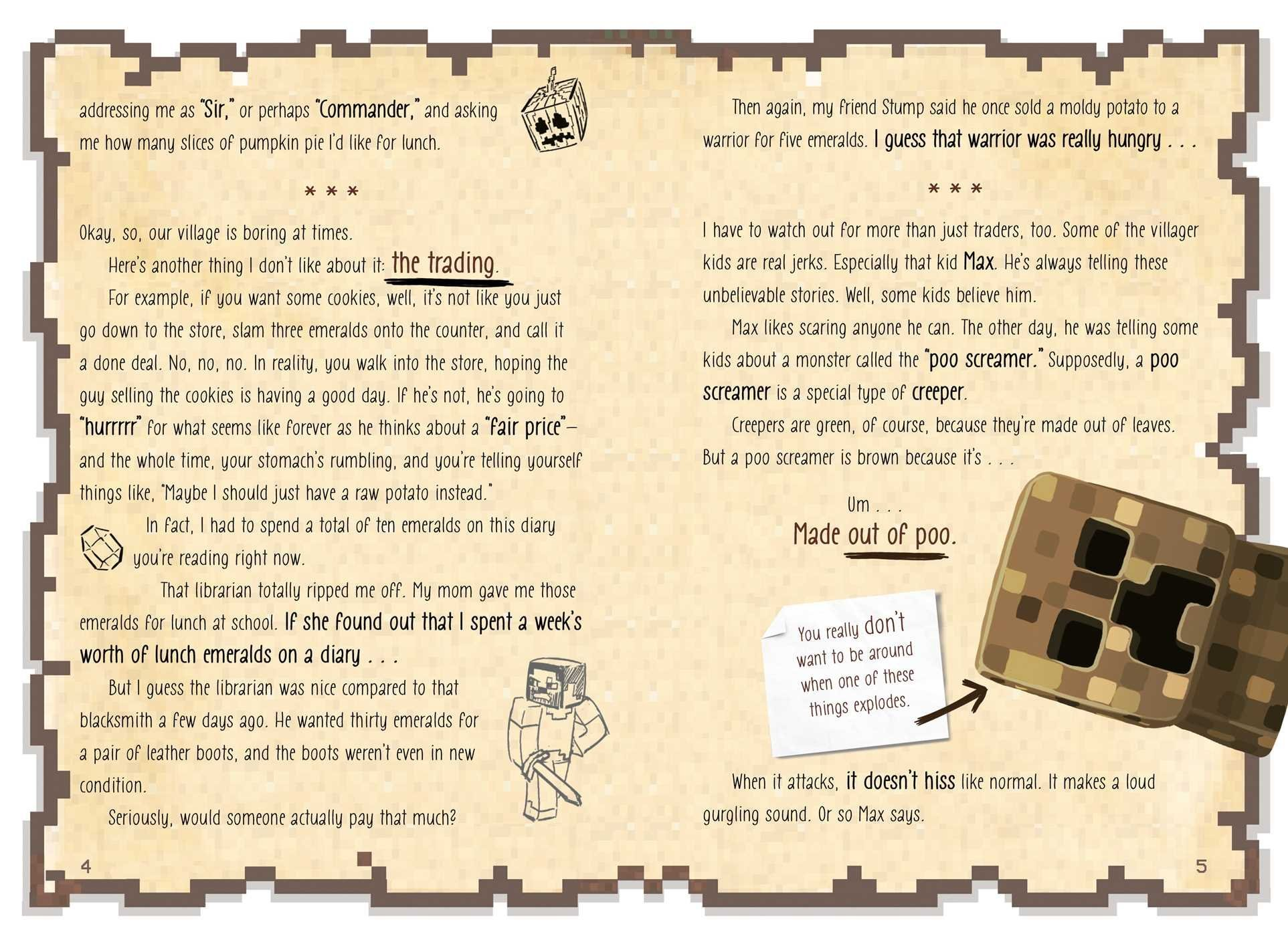 Diary Of An 8bit Warrior (book 1 8bit Warrior Series): An Unofficial  Minecraft Adventure: Cube Kid: 9781449480059: Amazon: Books