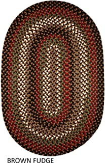 product image for Rhody Rug Jamestown Indoor/Outdoor Braided Rug Brown Fudge 5' x 8' Oval Reversible 5' x 8' Indoor Oval