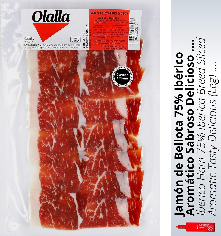 Olalla Jamon de Bellota Iberico 75% Raza Iberica - 100 gr
