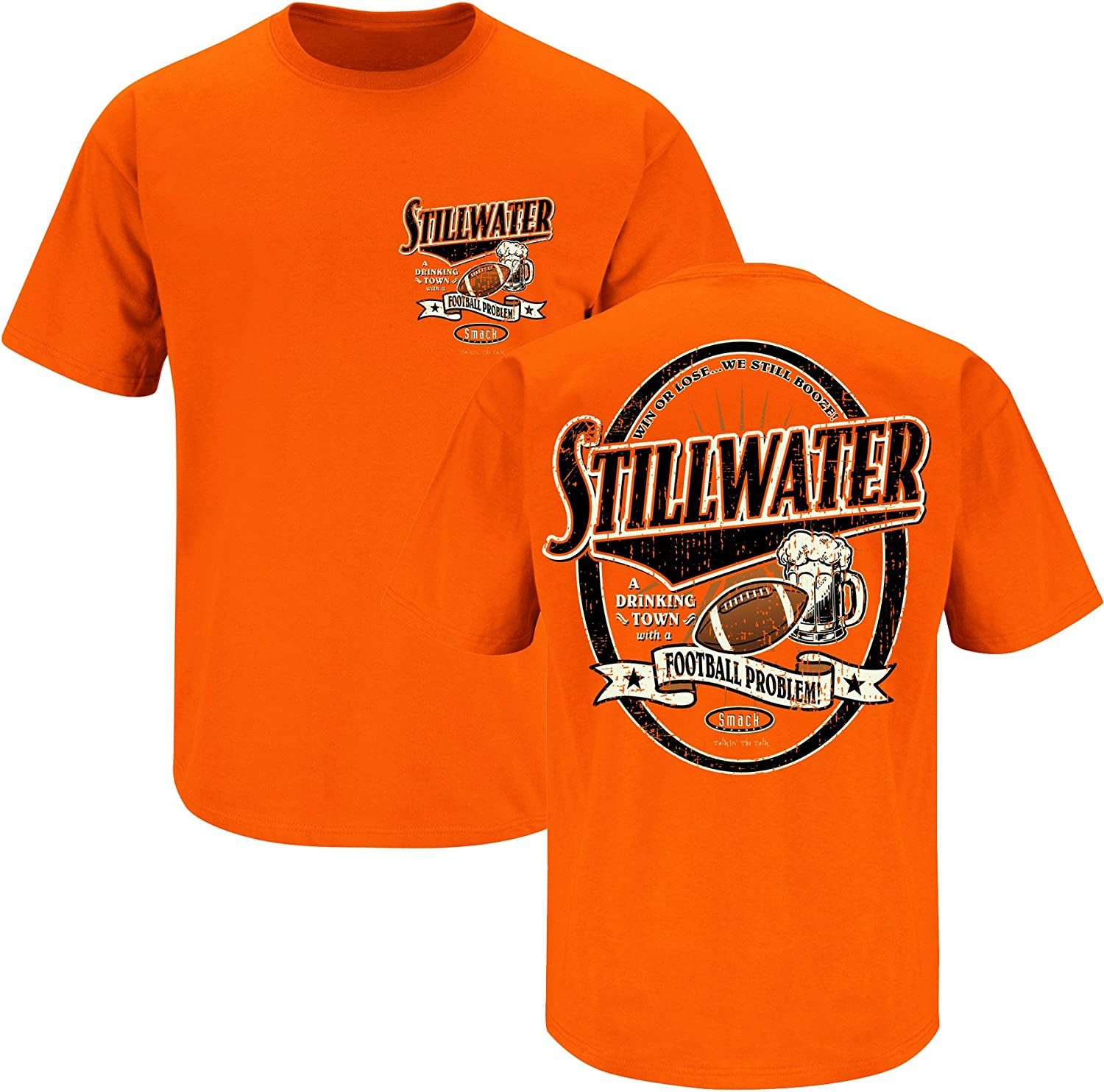 Stillwater Drinking Town Orange T-Shirt S-3X Smack Apparel Oklahoma State Football Fans