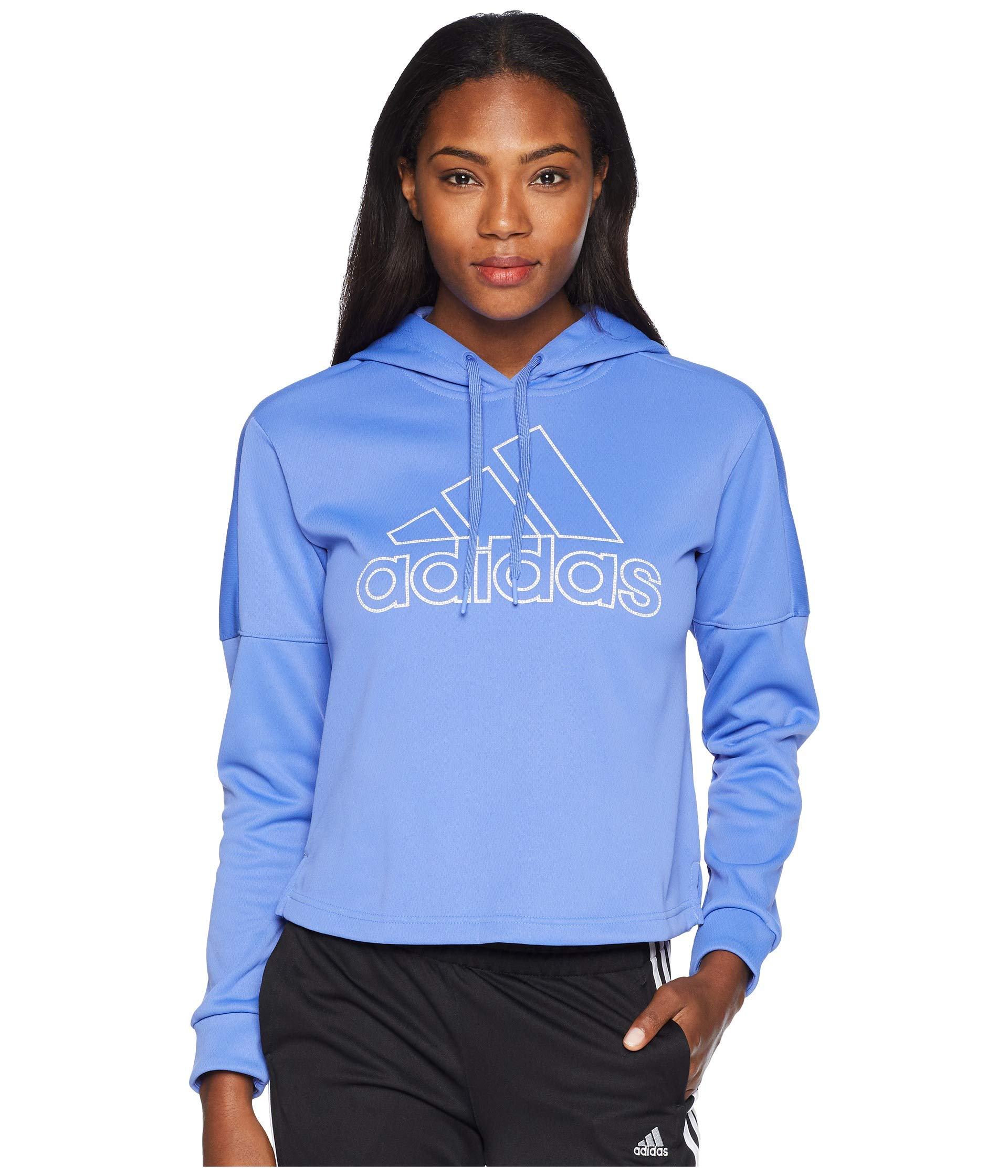 adidas Women's Athletics Team Issue Pullover Hoodie, Real Lilac, X-Small