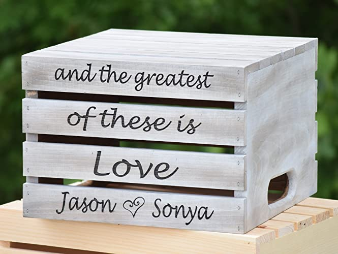 Amazon.com: Distressed Rustic Wedding Cake Stand - Rustic Crate ...