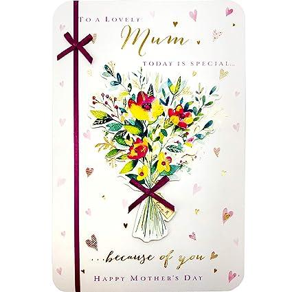 Tarjeta para el día de la madre - para una madre encantadora ...