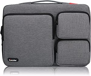"""iCozzier 13-13.3 inch Thri-Sidepocket Laptop Sleeve Electronic Accessories Storage Bag Original Design for 13"""" Ultrabook/Notebook/MacBook- Grey"""