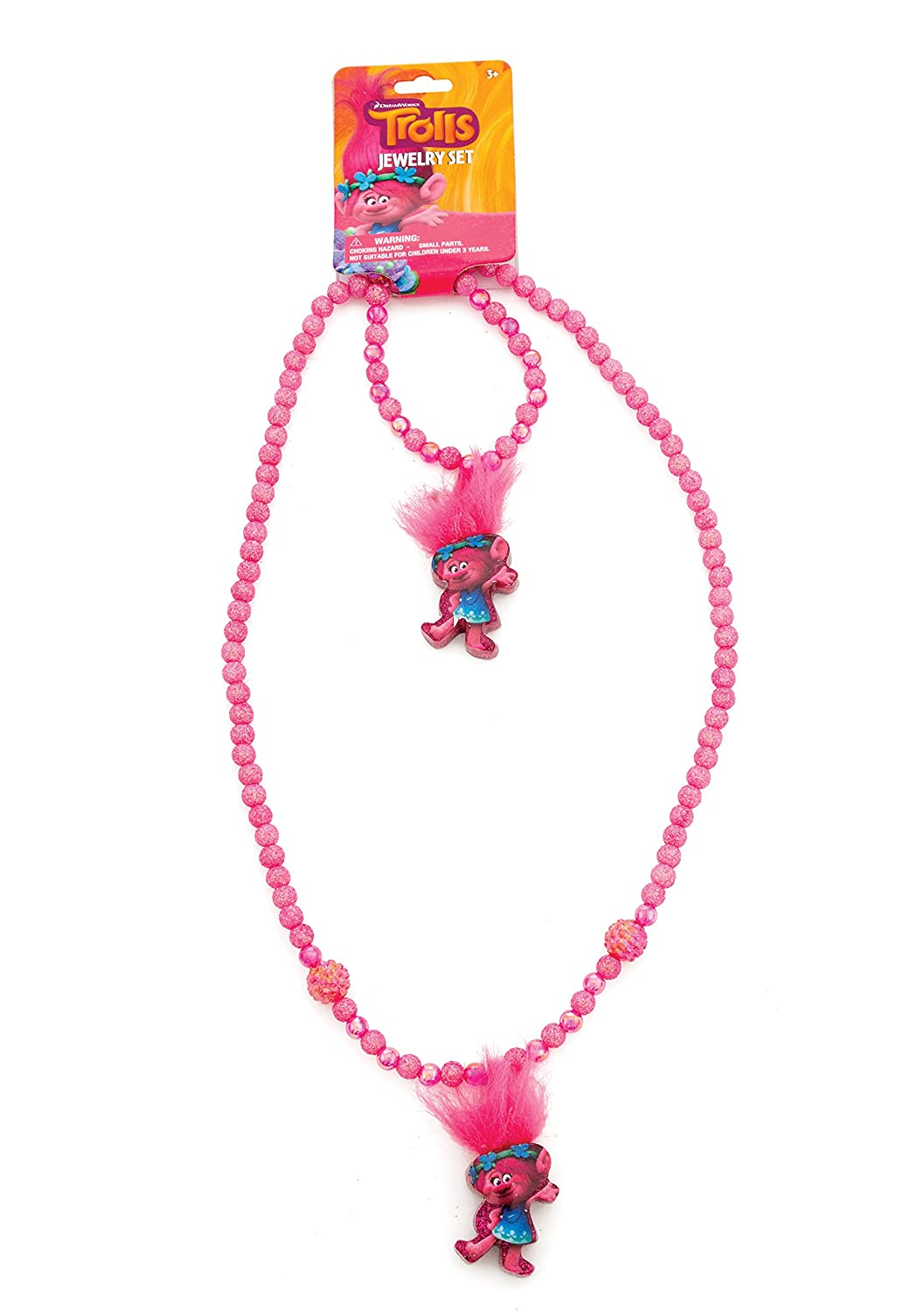 Joy Toy 65190 'Trailers/Trolls Hair/Hangtag Set Bracelet and Necklace with Glitter Joy Toy AG
